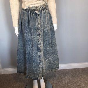 Calvin Klein Sport Vintage NWT StoneWash Maxiskirt